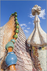 Galleritryk  Dragon roof of Casa Batlló, Barcelona - Neale Clarke