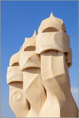 Selvklæbende plakat  Chimney sculptures at Casa Mila, Barcelona - Neale Clarke