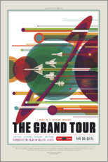 Selvklæbende plakat  Retro Space Travel - The Grand Tour