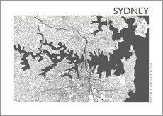 Galleritryk  City map of Sydney - 44spaces