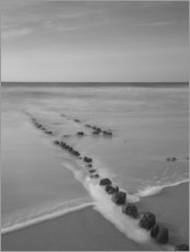 Galleritryk  Groyne on Sylt (long exposure) - Heiko Mundel