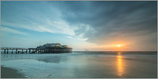 Galleritryk  Sunset at the beach bar 54Grad in St.Peter-Ording - Heiko Mundel