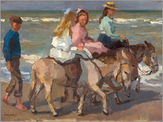 Galleritryk  To ride a donkey - Isaac Israels