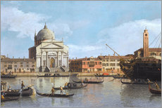 Akrylbillede  Churches of the Redentore and San Giacomo - Antonio Canaletto