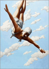 Akrylbillede  Diver in the clouds - Sarah Morrissette