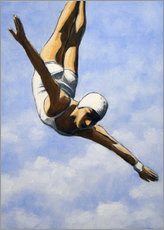 Premium-plakat Diver in the clouds II