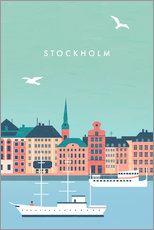 Akrylbillede  Illustration Stockholm - Katinka Reinke