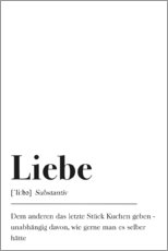 Premium-plakat  Liebe Definition (tysk) - Pulse of Art
