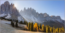 Premium-plakat Odle group at sunrise, South Tyrol, Italy
