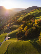 Premium-plakat Autumn in the valley, South Tyrol, Italy