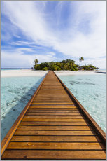 Akrylbillede  Jetty to dream island in the Maldives - Matteo Colombo