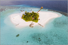 Akrylbillede  Aerial view of dream island in the Maldives - Matteo Colombo