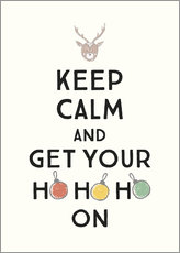 Lærredsbillede  Keep calm and get your Hohoho on - Typobox