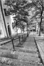 Akrylbillede  Endless steps to Montmartre