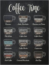 Premium-plakat  Coffee Time - Typobox
