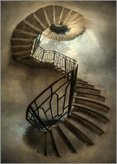 Premium-plakat Spiral staircase in an old tower