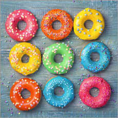 Premium-plakat Colorful donuts