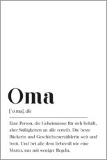 Akrylbillede  Oma Definition (tysk) - Pulse of Art