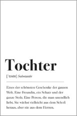 Premium-plakat  Tochter Definition (tysk) - Pulse of Art