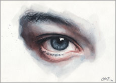 Premium-plakat Eye study in watercolors
