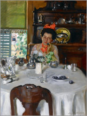 Premium-plakat Woman at a table