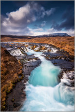 Premium-plakat Bruarfoss waterfall on Iceland
