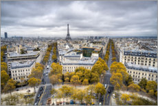 Premium-plakat Eiffel tower in autumn