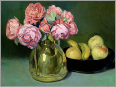 Premium-plakat Still life of flowers and fruits