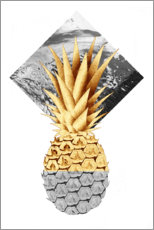 Premium-plakat Golden pineapple