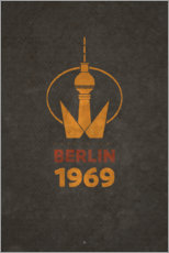 Galleritryk  Berlin 1969 - TV Tower - Black Sign Artwork