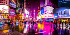 Akrylbillede  Times Square New York after the rain - Haussmann Visuals