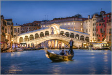 Premium-plakat Rialto Bridge in the evening