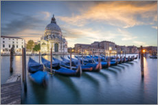 Premium-plakat Gondolas on the Grand Canal in Venice