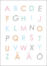 Premium-plakat Swedish alphabet colorful