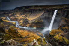 Premium-plakat Haifoss waterfall on Iceland