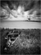Print på træ  Lighthouse Marken in the Netherlands - Kristian Goretzki