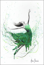 Premium-plakat Green dancer