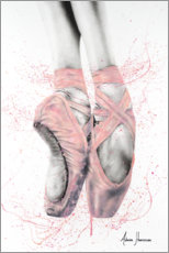 Premium-plakat Pretty Pointe Ballet Shoes