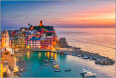 Premium-plakat Vernazza in the sunset
