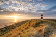 Akrylbillede  Lighthouse List East on Sylt - Jan Christopher Becke