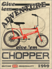 Premium-plakat Chopper Bicycle 1969 Advertisement