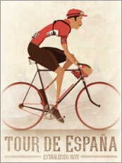 Galleritryk  Vintage Tour de Espana cycling race - Wyatt9