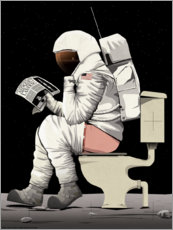 Lærredsbillede  Astronaut on the toilet - Wyatt9