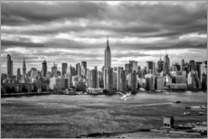 Premium-plakat New York Skyline set fra Brooklyn