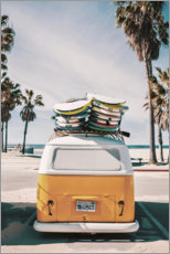 Premium-plakat Med van til surfing i Florida - what a feeling