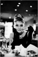 Akrylbillede  Audrey Hepburn i Pigen Holly - Celebrity Collection