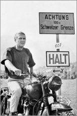 Galleritryk  Steve McQueen i Den store flugt - Celebrity Collection