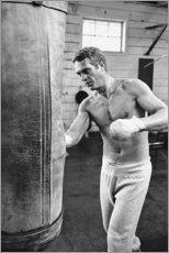 Akrylbillede  Steve McQueen ved boksning - Celebrity Collection