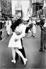 Akrylbillede  V-Day in Times Square (The Kiss) - Celebrity Collection