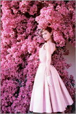 Lærredsbillede  Audrey Hepburn iført aftenkjole - Celebrity Collection
